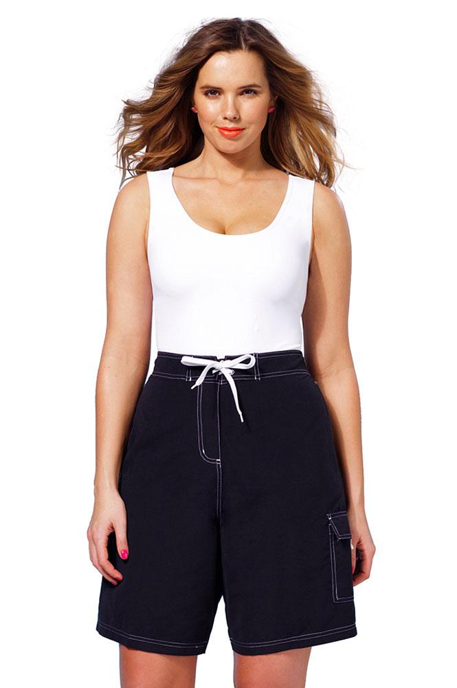 cách phối quần short cho nữ mập