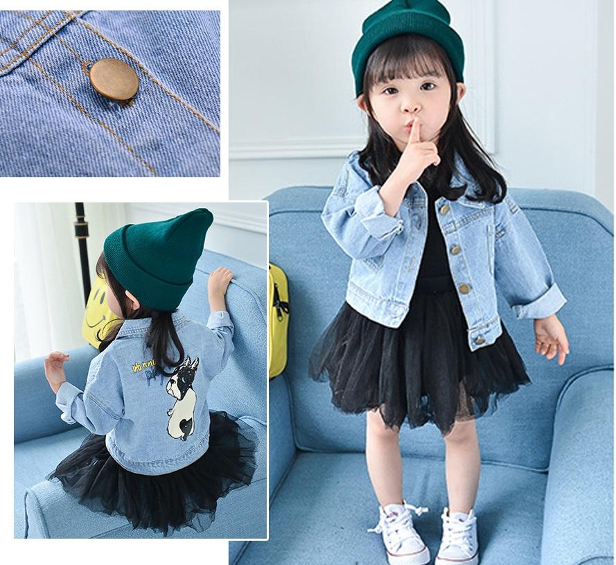 áo khoác jean bò cho bé gái