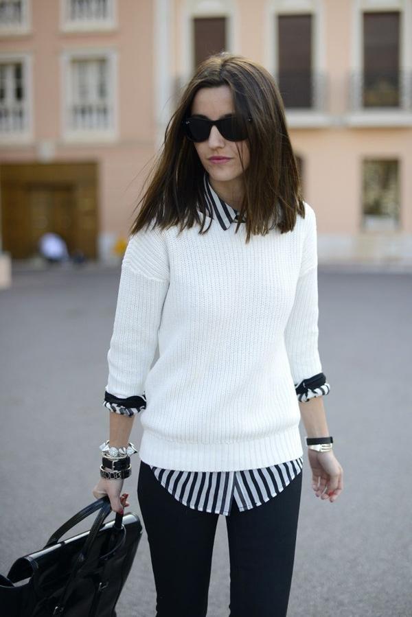 kết hợp áo sơ mi và quần jean cho nữ