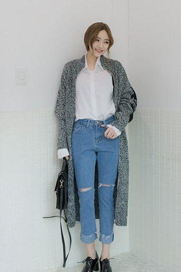 cách kết hợp áo sơ mi với quần jean nữ