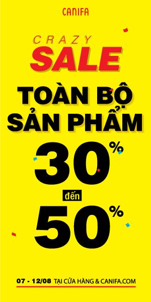 CANIFA sale toàn bộ sản phẩm 30%-50%