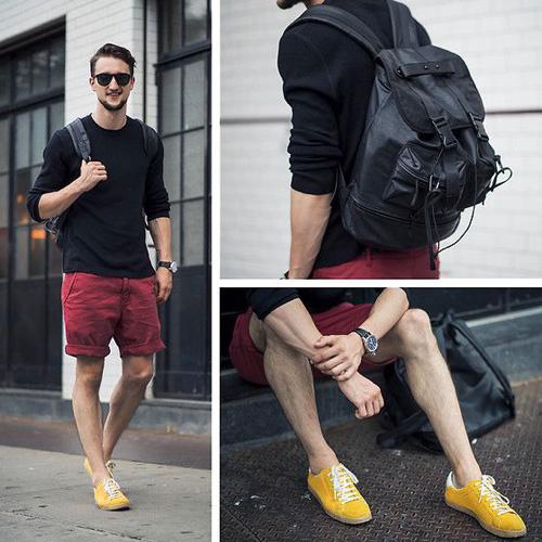 chọn quần áo phù hợp với giày màu vàng