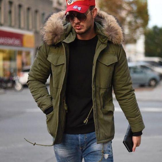 phối đồ với áo khoác parka nam